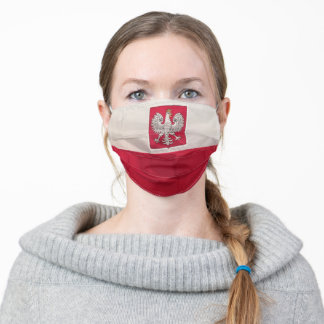POLISH FLAG AND EAGLE ADULT CLOTH FACE MASK