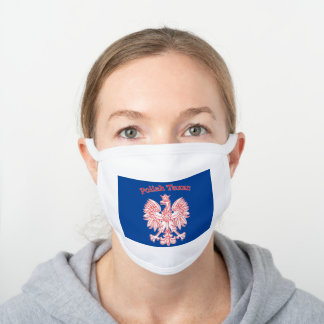 Polish Texan White Eagle White Cotton Face Mask