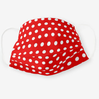 Polka Dot Red and White Washable Cloth Face Mask