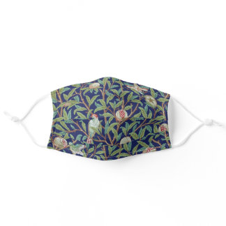 Pomegranate and Little Bird, William Morris Adult Cloth Face Mask