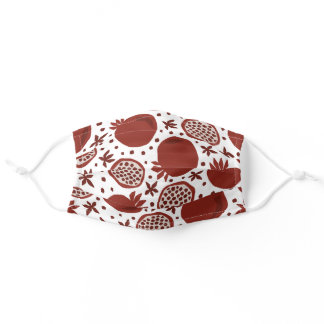 Pomegranate Fruit Food Red Pattern Adult Cloth Face Mask