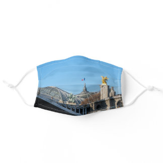 Pont Alexandre III and Grand Palais on a sunny day Adult Cloth Face Mask