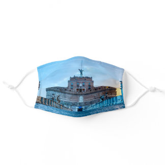Ponte Sant'Angelo at dawn - Rome Italy Adult Cloth Face Mask