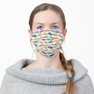 Pontoon Boats Pattern Colorful Adult Cloth Face Mask