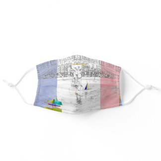 Pool of the Luxembourg Garden - Paris Adult Cloth Face Mask
