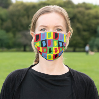 Pop Art Colorful Indiana Adult Cloth Face Mask