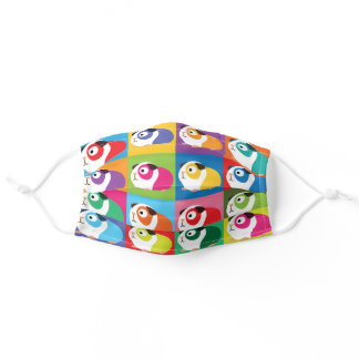 Pop Art Guinea Pigs Adult Cloth Face Mask