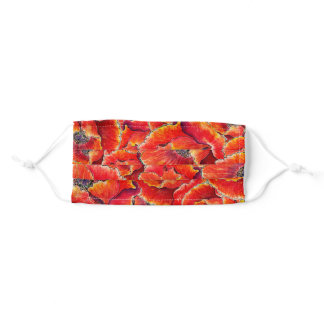 Poppy Flowers Watercolor Adult Cloth Face Mask