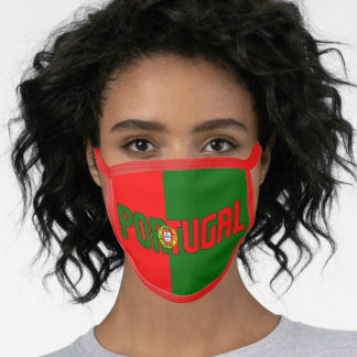 Portugal Inscription Flag Red Green Face Mask