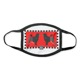 Portuguese Water Dog colorful face mask