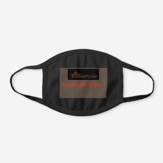 Powered By Prayer™ Alt Black Cotton Face Mask