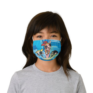 Powerpuff Girls Launch Into The Air Kids' Cloth Face Mask