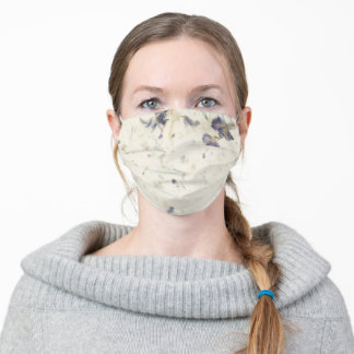 Pressed Flowers Paper Adult Cloth Face Mask