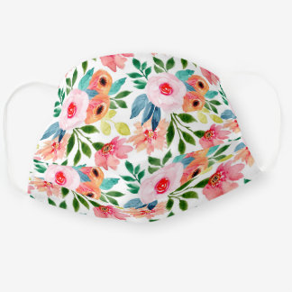Pretty Floral Pattern Cute Garden Flowers Cloth Face Mask