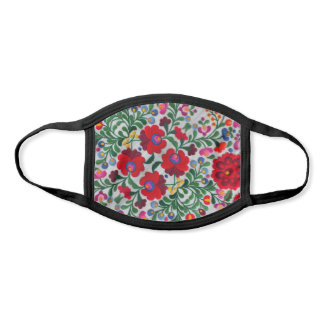 Pretty Mexican Embroidery Image Flowers Women's Face Mask