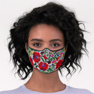 Pretty Mexican Embroidery Image Women's No Fog Premium Face Mask