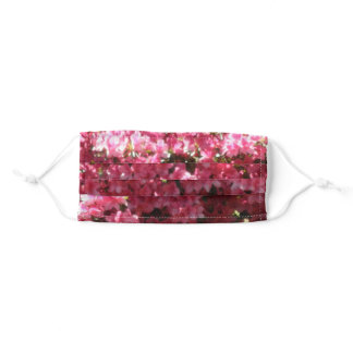 Pretty Pink Flowers Adult Cloth Face Mask
