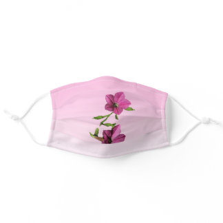 Pretty Pink Flowers Cloth Face Mask