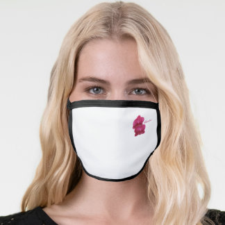 Pretty Pink Orchids All Over Print Face Mask