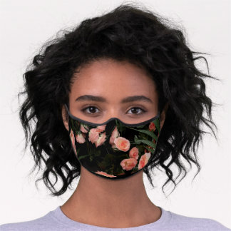 Pretty Pink Roses Premium Face Mask