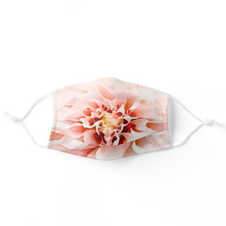 Pretty Pink Watercolor Dahlia Adult Cloth Face Mask