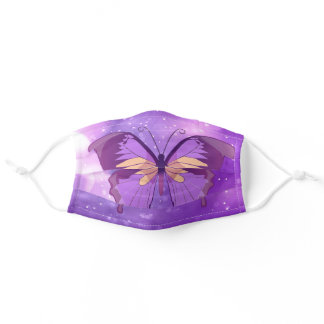 Pretty Purple Butterfly Women's Comfortable Adult Cloth Face Mask