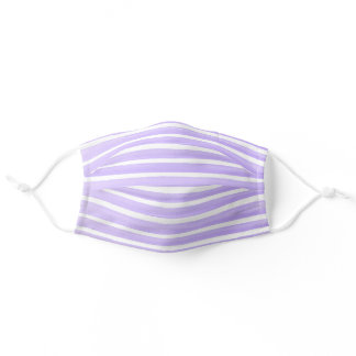 Pretty Purple Lines Simple Adult Cloth Face Mask