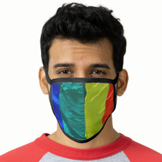 Pretty Rainbow Flag Colors Gay Design GLBTQ Face Mask