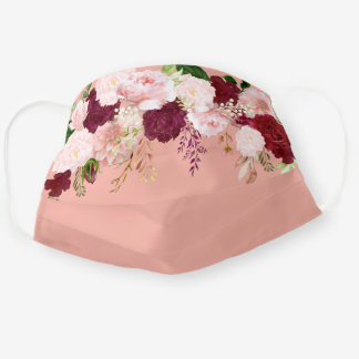 Pretty Watercolor Floral Flower Waterfall For her Adult Cloth Face Mask