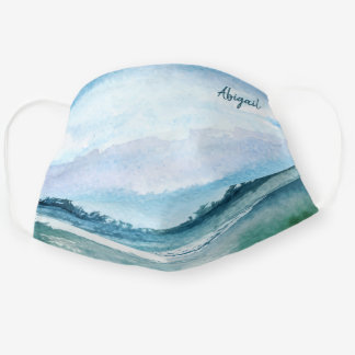 Pretty Watercolor Landscape at the Lake Cloth Face Mask