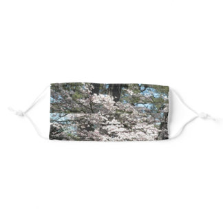 Pretty White Flowers Adult Cloth Face Mask