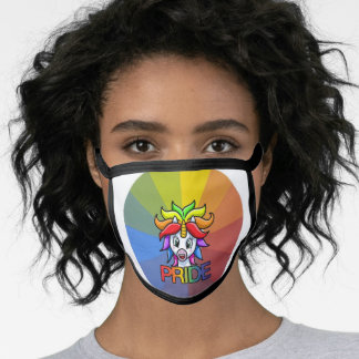 Pride Black All Over Cotton & Poly Blend Facemask Face Mask