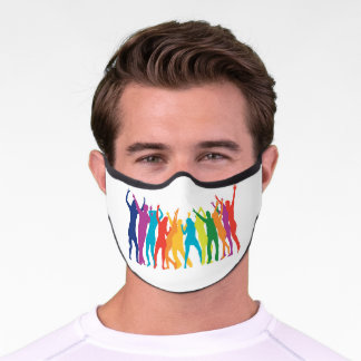 pride party - your invited Adult Premium Face Mask