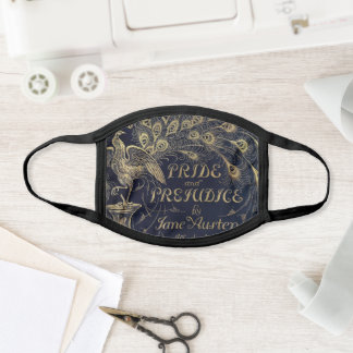 Pride & Prejudice Jane Austen Book Cover Face Mask