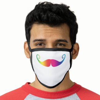 Pride Rainbow Cute Mustache Face Mask