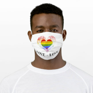 Pride Rainbow Love is Love Lesbian Gay LGBT Adult Cloth Face Mask