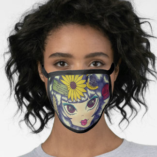 Princess Kansas Black All Over Cotton & Poly Blend Face Mask