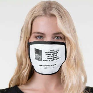 Professional poker player Cloth face mask