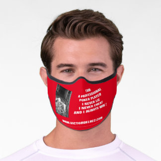 Professional poker player Premium Face Mask (red)