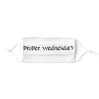 Proper Wednesday Cloth Face Mask with Filter Slot