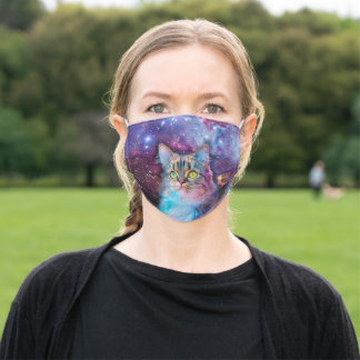 Proud Cat With Space Background Adult Cloth Face Mask