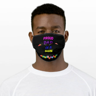 Proud DAD of A SON Adult Cloth Face Mask