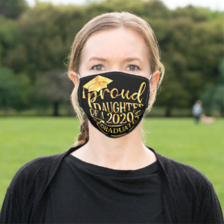 Proud Daughter of A 2020 Graduate Adult Cloth Face Mask