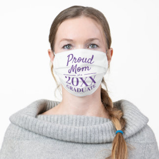 Proud mom of a 2021 graduate graduation party adult cloth face mask