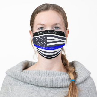 Proud Wife, Police Officer Adult Cloth Face Mask