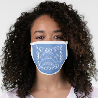 PSALM 23 WITH DECORATIVE ACCENTS FACE MASK