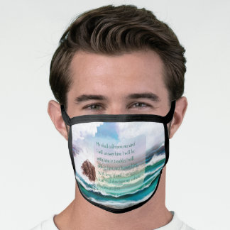 Psalm 91 Ocean All-Over Print Face Mask