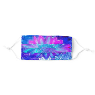 Psychedelic Flower Power Adult Cloth Face Mask