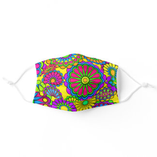 Psychedelic Hippy Retro Peace Art Adult Cloth Face Mask