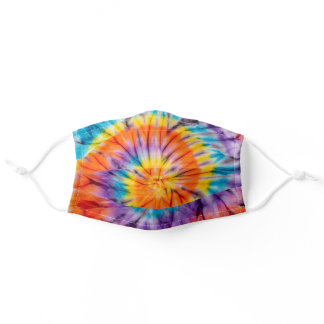 Psychedelic Tie Dye Pattern Adult Cloth Face Mask